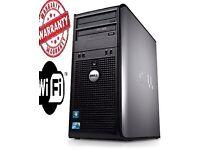 Windows 7 Dell Dual Core Fast 4GB RAM - 500GB HDD Desktop Tower PC Computer FAST