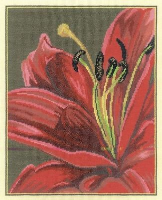 Rto Counted Cross Stitch Kit Royal Lily  Flowers New