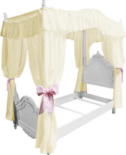 twin canopy top ebay. Black Bedroom Furniture Sets. Home Design Ideas