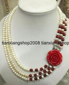 3row White Freshwater Pearl Necklace