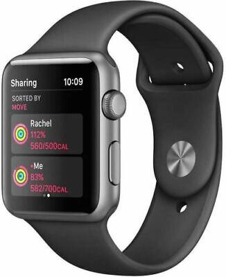 Apple Watch Sport 42mm Space Gray Aluminum Case Black Sport Band MJ3T2LL/A NBX