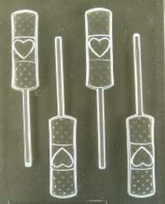 BAND AID WITH HEART LOLLIPOP CHOCOLATE CANDY MOLD DIY MCSTUFFIN PARTY FAVORS