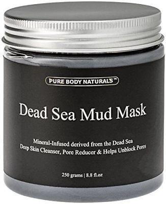 Pure Body Naturals Purifying Dead Sea Mud Mask Facial Treatment 8.8 oz BRAND NEW Dead Sea Facial Mud