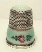 Sterling Enamel Thimble