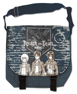**Legit Bag** Attack on Titan Eren Team Next to Wall Messenger Backpack #11720