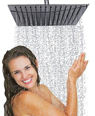 Brushed Nickel Square Ultra Thin 304 Stainless Steel 16 Inch Rain Shower Head