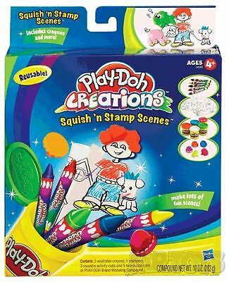 PLAY-DOH CREATIONS - SQUISH n STAMP SCENES + CRAYONS Playdoh