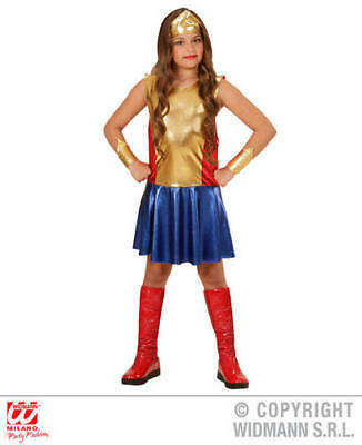 Girls Kids Childs Wonder Girl Fancy Dress Costume Outfit 5-7 Yrs