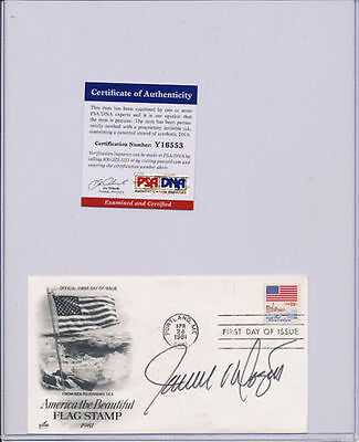 PSA/DNA SIGNED FIRST DAY COVER  JAMES DOZIER   553