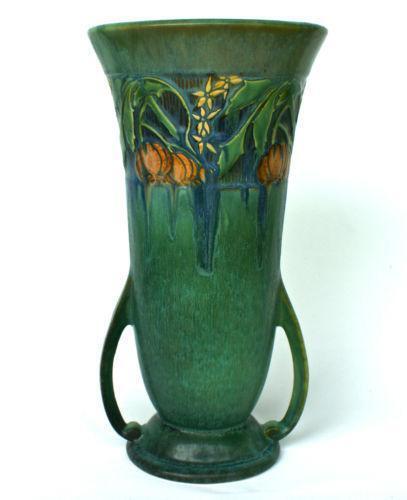 Roseville Green Vase Ebay