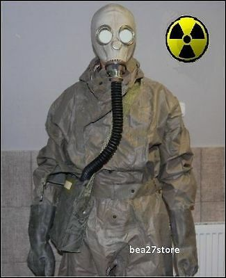 GAS MASK  NBC HAZMAT SUIT RADIATION SARIN  CHEMICAL SURPLUS CHERNOBYL FALLOUT
