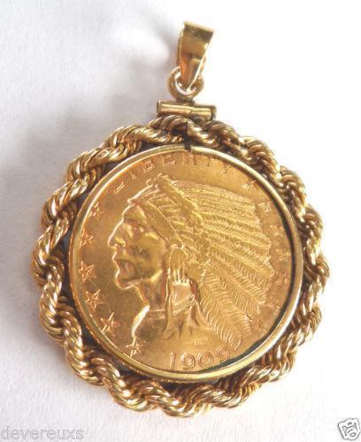 1865 Indian Head Penny Plain 5 For Bullion Coins