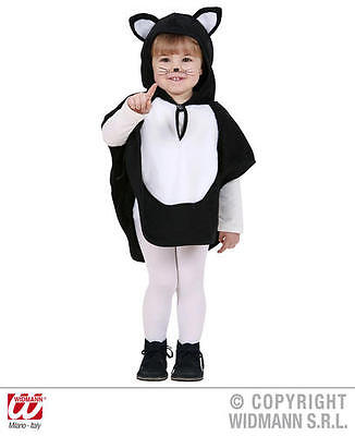 Little Black Dress Halloween (Childrens Black Cat Fancy Dress Costume Little Halloween Kitten Animal Outfit 1-)