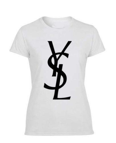 Ysl logo t shirt ebay for Who sells ysl t shirts