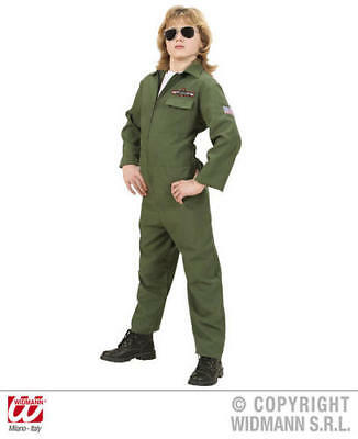 Childs Kids Deluxe Fighter Jet Pilot Boy Fancy Dress Costume Outfit 11-13 Yrs - Jet Fighter Pilot Costume