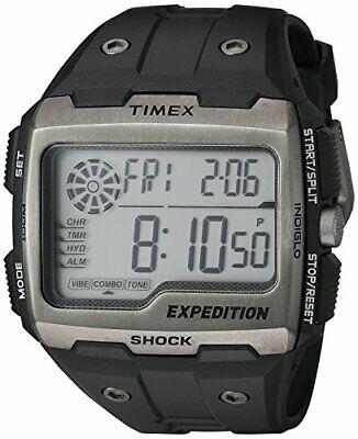 Timex® Men's Expedition Grid Shock Black Resin Strap Wat