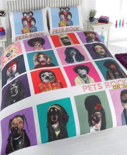 Pets Rock ALLSTARS Animals Popstars Double Duvet Cover Bed Bedding Set OFFICIAL