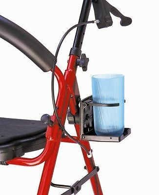 Wheel Chair Cup Holder Walker Bed Rails Mobility Ride On Drinks Rest Kit NEW
