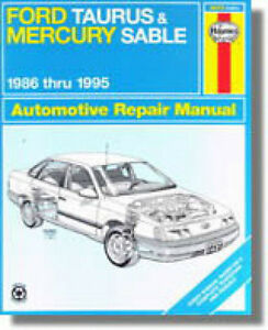 Haynes, Ford Taurus and mercury sable 1986 to 1995