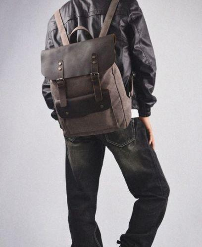Mens Leather Backpack | eBay