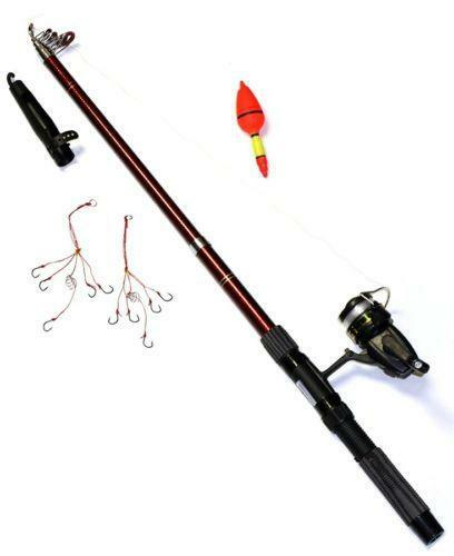 Collapsible fishing pole ebay for Collapsible fishing pole
