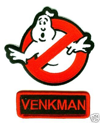 FANCY DRESS HALLOWEEN COSTUME PROP: MOVIE GHOSTBUSTERS VENKMAN NAME IRON-ON SET