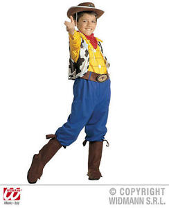 Childrens Woody Fancy Dress Costume Toy Story Cowboy Outfit 128Cm