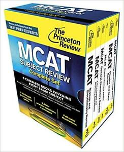 NEW 2015 MCAT Prep Princeton Review 6 Book Complete Set