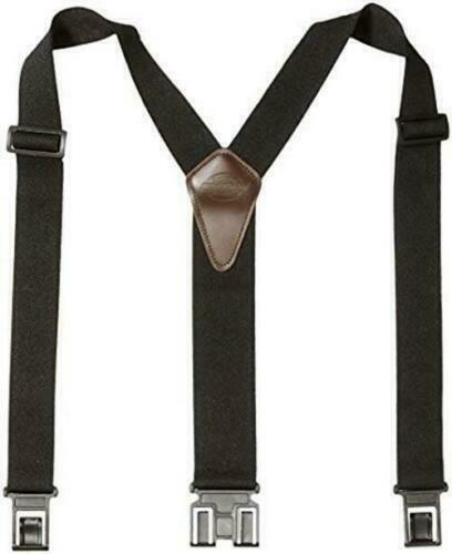 Dickies Black Y-Back Suspenders For Men With Hooks On Belt Loops One Size