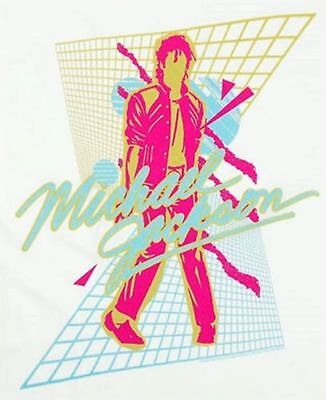 New: MICHAEL JACKSON - Beat It Vaporwave White Concert T-Shirt