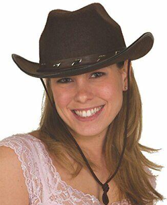 Jacobson Hat Company Mens Felt Studded Cowboy Hat, Brown, Adult