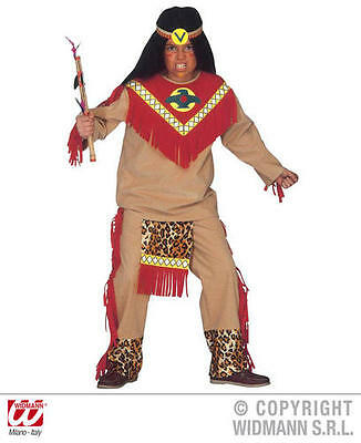 Childrens Red Indian Chief Fancy Dress Costume Wild West Lone Ranger Outfit 158C