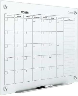 Quartet Magnetic Whiteboard Calendar 3 X 2 Glass Dry Erase White Board Plann