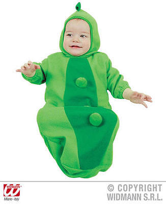 Baby Pea In Pod Bonnet And Bib Food Fancy Dress Costume - Babies In Food Costumes