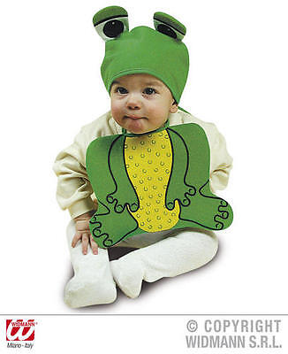 Baby Frog Bonnet And Bib Animal Froggy Toad Fancy Dress Costume - Baby Toad Costume
