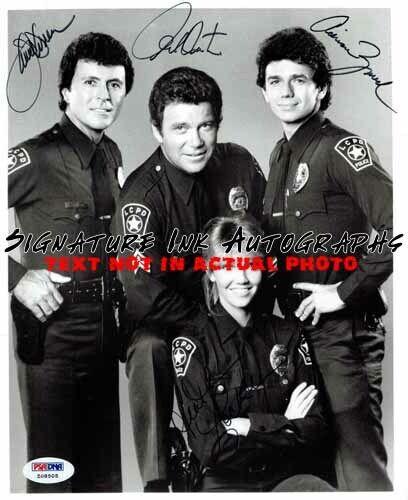 TJ Hooker Cast Signed 8x10 Autographed Photo reprint
