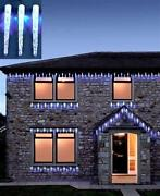 White LED Icicle Outdoor Christmas Lights
