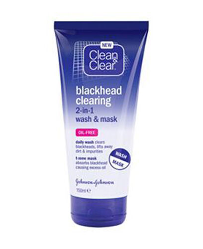 Clean & Clear Blackhead Dirt Clearing 2-in-1 Daily Wash & Mask Oil Free 150ml UK