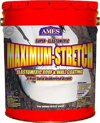 Ames Mss5 5 Gallon White Super Elastomeric Rubberized Roof Wall Coating