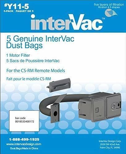 Intervac Vac Y11-5 Genuine Dust Cleaner Dust Bags for CS-RM Models
