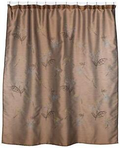 Brown Teal Shower Curtain