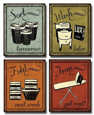 Laundry Set - mini Mini Prints, Vintage, Art Print Poster by N Harbick, 8 x 10 on Rummage