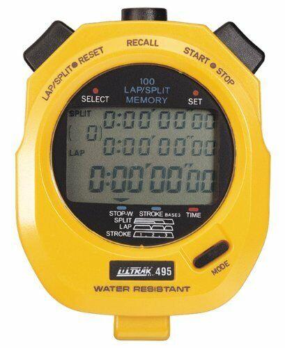 Ultrak 100 Lap Memory Timer, (495Yellow)