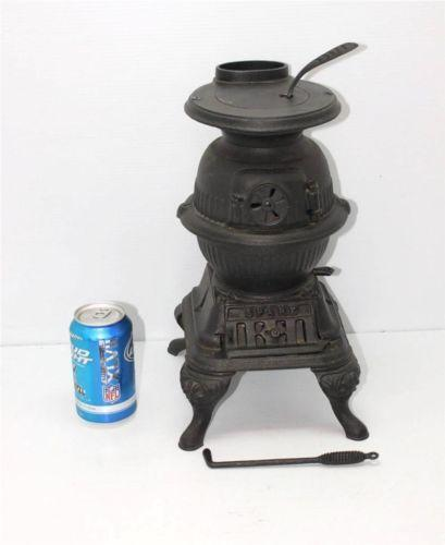 Small pot belly wood stoves antique pot belly stove ebay