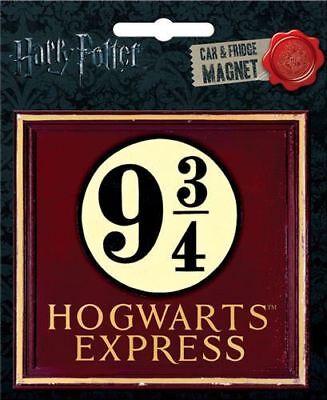 Harry Potter Image - Harry Potter Hogwarts Express Platform 9 3/4 Photo Image Car Magnet, NEW UNUSED