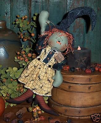 Patti's Ratties Primitive Witch Ann Halloween Ornie Doll Paper Pattern #470