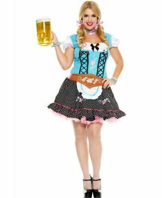 MISS OKTOBERFEST GERMAN BEER FEST COSTUME HALLOWEEN COSPLAY WOMAN'S PLUS 1X 2X