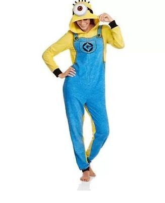 Despicable Me Minion Bodysuit Pajamas/Costume,Unisex  S -2XL NWT