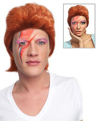 80's Pop Star David Bowie Wig Ziggy Stardust Costume Wig - Bowie Wig