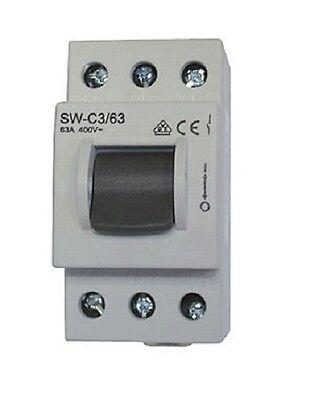 Hauptschalter Einbauschalter Schalter 3x63A Hutschiene N09-111-099